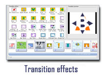 Transition effects on demo of DVD Photo Slide Show Maker software